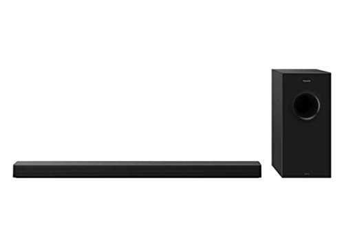 Panasonic SC-HTB600EGK - Barra de Sonido 2.1 con subwoofer inalámbrico (360 W, Bluetooth, HDMI, Dolby Atmos, ARC, RMS, Montaje en Pared) Color Negro