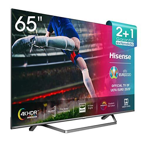"Hisense ULED 2020 65U71QF - Smart TV 65"" Resolución 4K, Quantum Dot, FALD, Dolby Vision, Dolby Atmos, Vidaa U 4.0 con IA, Alexa Built-in"